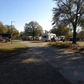 The campground roads are paved.