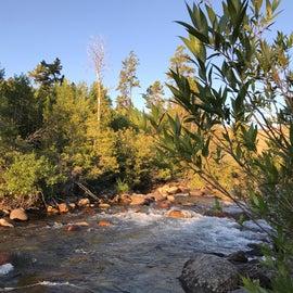 The Popo Aggie River that flows through camp