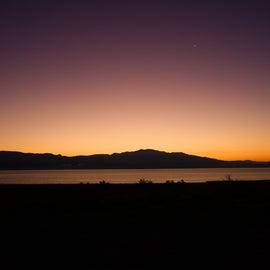 Sunrise on Walker Lake