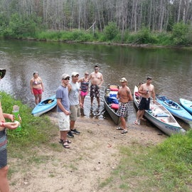 We did a group kayak trip down the Au Sable river