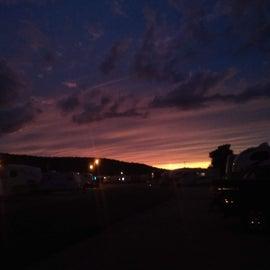 Beautiful evening sunset.