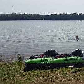 Kayak/swim destination.
