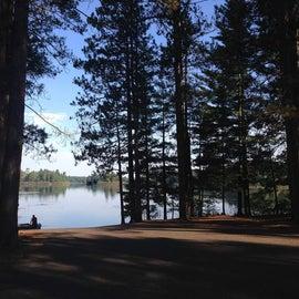 Musky lake has a boat landing.
