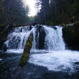 One of the many nearby waterfalls