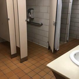 Women's restroom in Oakwood section