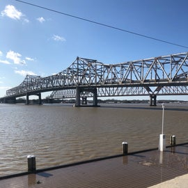 Lake end is just 2 miles from this Hwy 90 bridge.