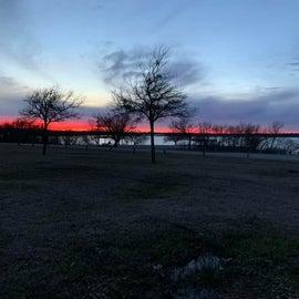 A sliver of sunset