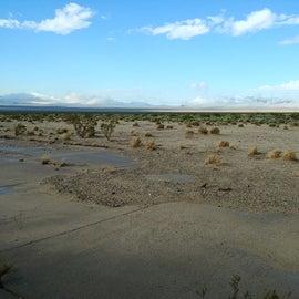 Desert around the pad.