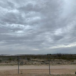 View to the east from RV park fence.