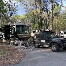 Paved camp pad, plenty of room.