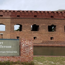 Welcome to Fort Jefferson. Ranger led tour available.