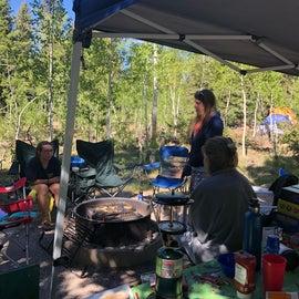 Campsite all set up