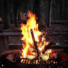 Campfire at Eno River State Park