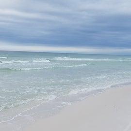Beautiful white sand beaches and emerald water