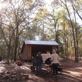 Pioneer campsite at breakfast