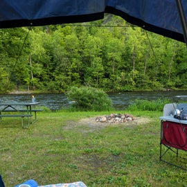 Morning view by a river site