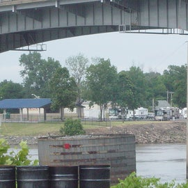 View of the RV park from downtown Little Rock