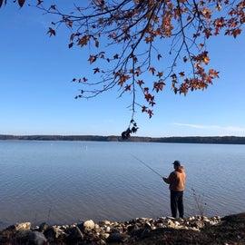 Fishing on Lake Okatibbee