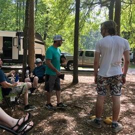 Corn Hole Tournament at Site 37