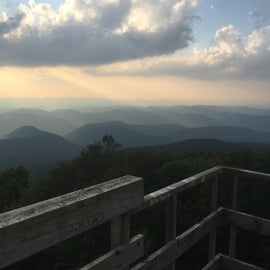 From the fire tower up the road