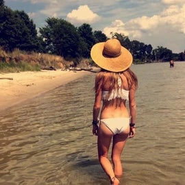 Enjoying the sand and sun