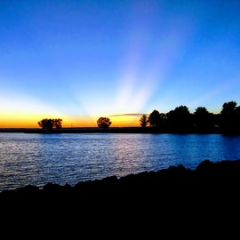 Gorgeous sunset from waterfront site #24
