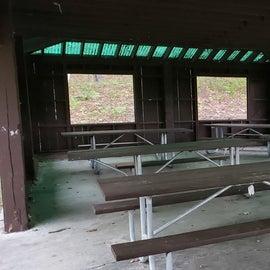 Picnic pavilion Jericho Mountain State Park