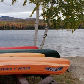 Canoes and kayaks for rent