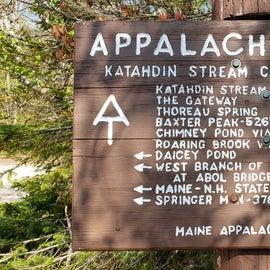Trail distances Katahdin Stream Campground
