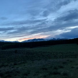 Drive to Campground at dusk.