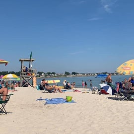 Beach on the 4th of july
