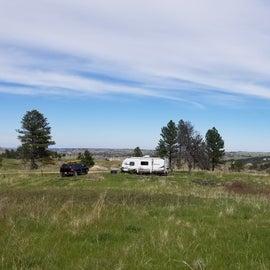 Our campsite along FR-714A