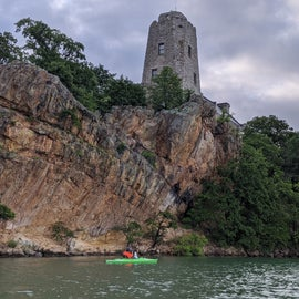 Tucker Tower looks like a fortress on top of those cliffs!