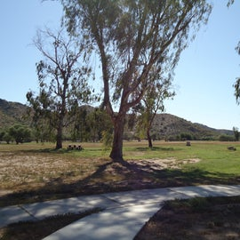 Big grassy fields for open tent camping