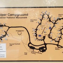 Juniper Campground layout.