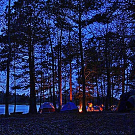 The Lake from our Campsite