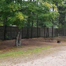 These tent sites are separate by small fences