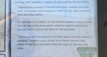 Pike Creek Primitive Camp at Alvord Hot Springs