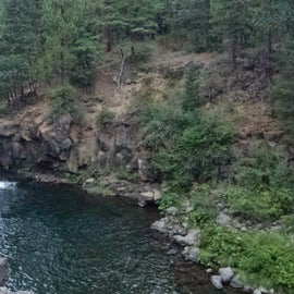 one of the several waterfalls and swimming holes in this camping area