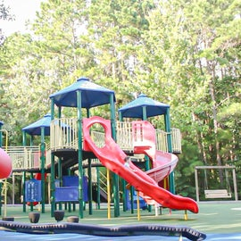 The playground at James Island County Park is huge. So much fun for the kids.
