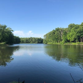 View of lake near concession building