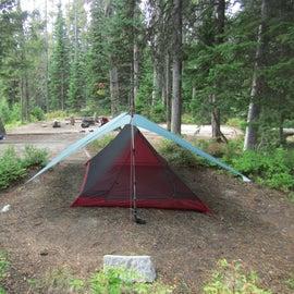 Plenty of space to pitch a shelter.