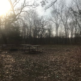 One of the group campsites