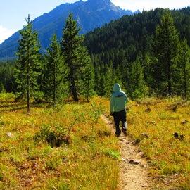 Walking to Trapper Lake