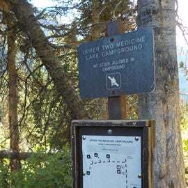 Marker and map of the campsite