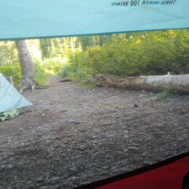 Enough space for a small 1 person tent and 2 person tarp.