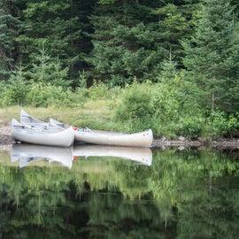 The canoe launch