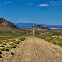 View from our windshield looking South.  You park on this very wide dirt road.