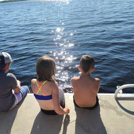 From the pontoon we rented