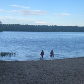 Swimming beach in campground.